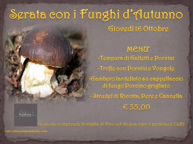 Locandina Funghi d'Autunno