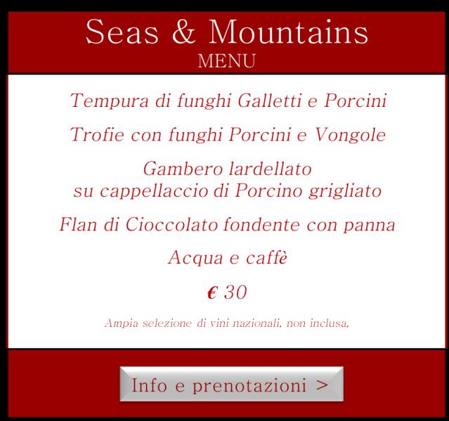 Menù Evento Seas & Mountains